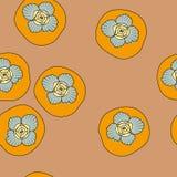 Картина вектора безшовная с хурмой Стоковые Изображения