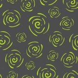 Картина вектора безшовная с цветками Стоковые Изображения