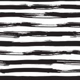 Картина вектора безшовная с черными ходами щетки Стоковые Изображения