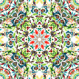 Картина вектора безшовная с ярким флористическим орнаментом Винтажный элемент дизайна в восточном стиле Орнаментальный tracery шн Стоковая Фотография