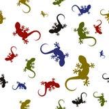 Картина вектора безшовная с ящерицами Стоковое Фото