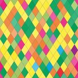 Картина вектора безшовная с rhombs Абстрактная яркая текстура Стоковое Фото