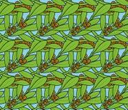 Картина вектора безшовная тропового завода Стоковое Изображение