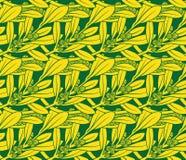 Картина вектора безшовная тропового завода Стоковое Изображение RF