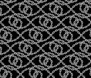 Картина вектора безшовная цепей Стоковое Изображение RF