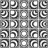 Картина вектора безшовная monochrome геометрическая кругов Стоковая Фотография RF