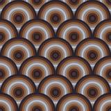 Картина вектора безшовная semi кругов Стоковые Изображения RF
