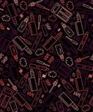 Картина вектора безшовная vape и аксессуаров Стоковое Изображение