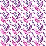 Картина вектора безшовной весны флористическая Стоковые Фотографии RF