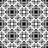 Картина вектора безшовной картины черно-белая иллюстрация вектора