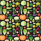 Картина вектора больших овощей безшовная Современный плоский дизайн Стоковые Изображения RF