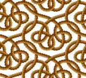 Картина вектора веревочки безшовная Стоковая Фотография RF