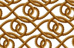 Картина вектора веревочки безшовная Стоковые Фотографии RF