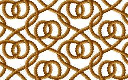 Картина вектора веревочки безшовная Стоковое Изображение