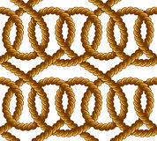 Картина вектора веревочки безшовная Стоковая Фотография
