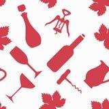 Картина вектора вина Стоковые Фотографии RF