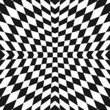 Картина вектора геометрическая checkered Орнамент стиля Op искусства бесплатная иллюстрация