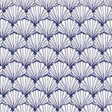 Картина вектора голубая и белая seashells повторения Соответствующий для обруча, ткани и обоев подарка бесплатная иллюстрация