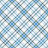 Картина вектора голубого и белого тартана безшовная Checkered текстура шотландки Стоковые Изображения