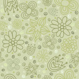 Картина вектора зеленая флористическая безшовная Стоковое Изображение RF