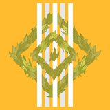 Картина вектора листьев Стоковые Фото