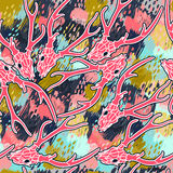 Картина вектора конспекта черепа оленей безшовная Стоковые Изображения