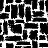 Картина вектора красочная безшовная с ходами щетки Черная фантазия Темный цвет на белой предпосылке Усадьба покрашенная рукой иллюстрация штока
