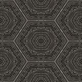Картина вектора круговая в стиле grunge выровнянная картина Битники, boho, деревенское Стоковые Изображения RF