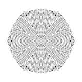 Картина вектора круговая в стиле grunge выровнянная картина Битники, boho, деревенское Стоковые Фотографии RF