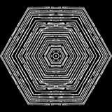 Картина вектора круговая в стиле grunge выровнянная картина Битники, boho, деревенское Стоковые Фото