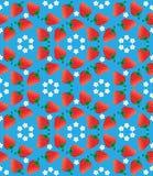 Картина вектора клубники на свете - голубой предпосылке Стоковая Фотография