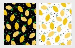 Картина вектора лимона Белое и черное Backgound Милый ребячий дизайн Abtstract бесплатная иллюстрация