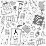 Картина вектора медицинского оборудования безшовная Стоковые Изображения