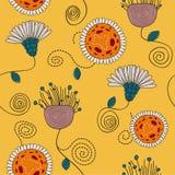 Картина вектора милых цветков безшовная Стоковое Изображение