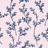Картина вектора моды с ветвями в винтажном стиле иллюстрация штока