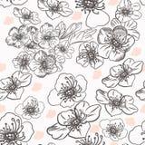 Картина вектора моды с цветками в винтажном стиле бесплатная иллюстрация