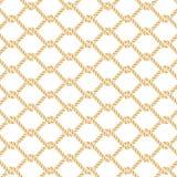 Картина вектора морского узла веревочки безшовная Бесплатная Иллюстрация