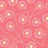 Картина вектора одуванчика дуя флористическая безшовная иллюстрация штока
