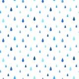 Картина вектора дождя безшовная Стоковая Фотография RF
