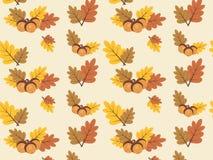 Картина вектора осени с красочными листьями Стоковое фото RF