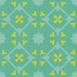 Картина вектора плиток пола плитки зеленая декоративная Стоковые Изображения