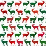 Картина вектора праздника рождества оленей безшовная Стоковые Изображения