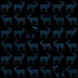 Картина вектора праздника рождества оленей безшовная Стоковое Фото