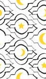 Картина вектора приветствию Рамазана Kareem безшовная с современным фонариком и звездами специально для желать и дизайна Рамазана Стоковая Фотография