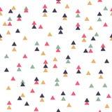 Картина вектора племенная безшовная геометрическая с треугольниками Стоковое Изображение