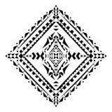Картина вектора племенная черно-белая декоративная Ацтекский орнаментальный стиль Стоковые Фотографии RF