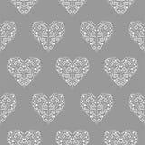 Картина вектора племенного орнамента формы сердца безшовная Стоковое Фото