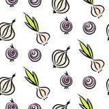 Картина вектора разных видов doodle лука безшовная Стоковое Изображение