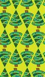 Картина вектора рождественских елок светло-зеленая безшовная иллюстрация штока