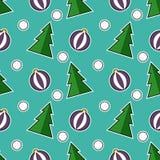 Картина вектора рождества безшовная Стоковые Изображения